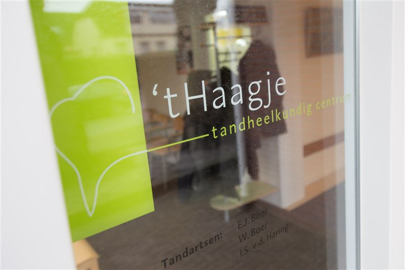 tandartspraktijk t haagje logo raam